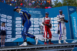 Podium: Race winner Nicolas Prost, Renault e.Dams; second place Bruno Senna, Mahindra Racing; third place Jean-Eric Vergne, DS Virgin Racing