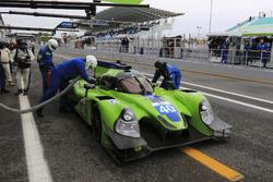 Pit stop #40 Krohn Racing Ligier JS P2 - Nissan: Nic Jonsson, Tracy Krohn, Olivier Pla