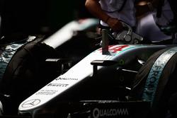 Lewis Hamilton, Mercedes AMG F1 W07 Hybrid on the grid