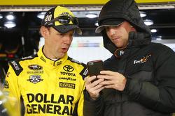Matt Kenseth, Joe Gibbs Racing, Toyota; Denny Hamlin, Joe Gibbs Racing, Toyota