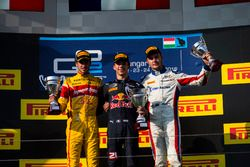 Pierre Gasly, PREMA Racing, Antonio Giovinazzi, PREMA Racing and Sergey Sirotkin, ART Grand Prix