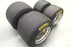 First prototype set of Giti FT5000 tyres