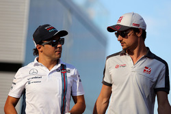 Felipe Massa, Williams F1 Team et Esteban Gutierrez, Haas F1 Team