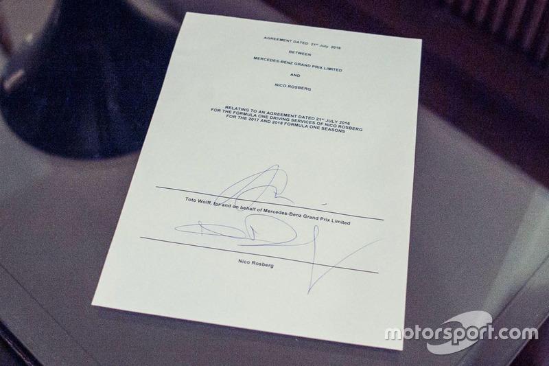 إتفاق تجديد عقد نيكو روزبرغ، مرسيدس لموسمي 2017 و2018