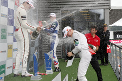 Prize giving ceremony, Lance Stroll, Prema Powerteam, Dallara F312 - Mercedes-Benz, Ben Barnicoat, HitechGP, Dallara F312 - Mercedes-Benz, Maximilian Günther, Prema Powerteam, Dallara F312 – Mercedes-Benz