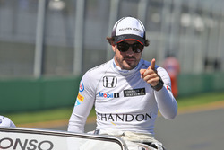 Fernando Alonso, McLaren on the drivers parade
