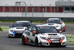 Gianni Morbidelli, Aku Pellinen, Kevin Gleason, Honda CIvic TCR WestCoast Racing