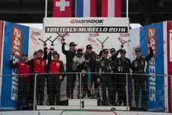 Podium A6-Pro: Winner #333 V8 Racing Renault RS01 FGT3: Luc Braams, Max Braams, Nicky Pastorelli, Miguel Ramos; second place #10 Hofor-Racing Mercedes SLS AMG GT3: Michael Kroll, Christiaan Frankenhout, Kenneth Heyer, Roland Eggimann, Chantal Kroll; third place #963 GRT Grasser Racing Team Lamborghini Huracan GT3: Rolf Ineichen, Marc Ineichen, Adrian Amstutz, Christian Engelhart