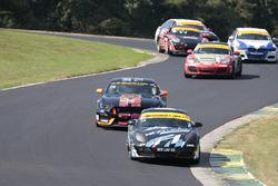 #38 Next Level European Porsche Cayman: Dan Rogers, Seth Thomas, #76 Compass360 Racing Ford Shelby G