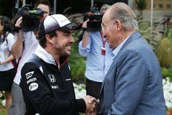 Fernando Alonso, McLaren con el ex rey de España Juan Carlos