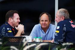 Christian Horner, Red Bull Racing Team Principal with Gerhard Berger and Dr Helmut Marko, Red Bull M