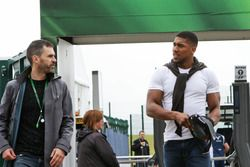(L to R): Marc Hynes, with Anthony Joshua, Boxer