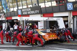 Arrêt aux stands de Jamie Green, Audi Sport Team Rosberg, Audi RS 5 DTM
