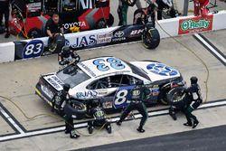 Corey LaJoie, BK Racing Toyota, pit stop