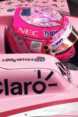 Esteban Ocon, Sahara Force India F1 VJM10; Schriftzug #BillyWhizz