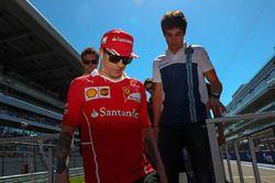 Себастьян Феттель, Ferrari, и Лэнс Стролл, Williams
