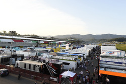 Atmosphere at the paddock