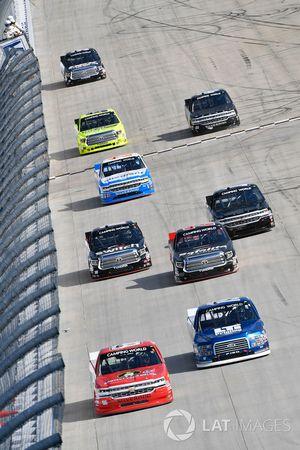 Ross Chastain, Bolen Motorsports, Chevrolet; Austin Cindric, Brad Keselowski Racing, Ford; Ben Rhode