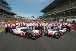 Foto de grupo de Porsche Team
