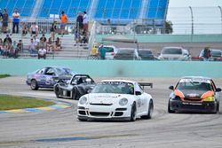 #33 MP4A Honda Civic driven by Felipe Jaramillo of Honda 33 Racing, #72 MP2A Porsche GT3 driven by Warren Cooper & Shane Lewis of MGM Motorsports