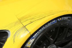 Battle marks on the Corvette Racing Corvette C7.R