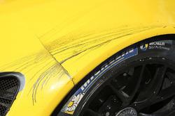 Battle marks on the Corvette Racing Corvette C7.R