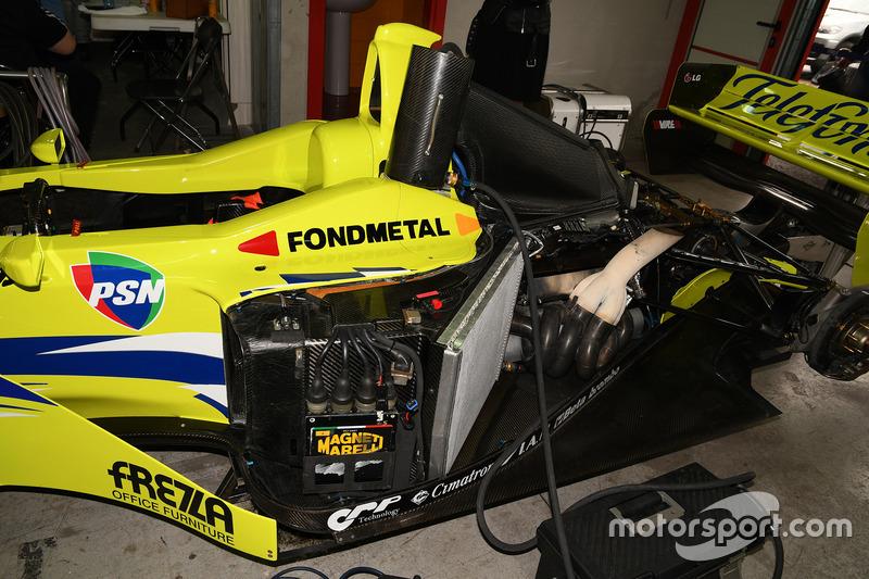 De motor van de Minardi M02