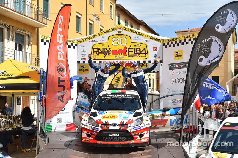 I vincitori Stefano Albertini, Danilo Fappani, Ford Fiesta WRC, Mirabella Mille Miglia
