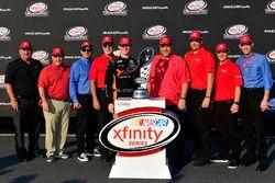 Matt Tifft, Joe Gibbs Racing Toyota, Toyota executives, Xfinity trophy