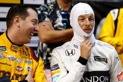 Kyle Busch and Jenson Button