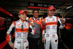 Pole sitters #8 Autobacs Racing Team Aguri Honda NSX Concept GT: Tomoki Nojiri, Takashi Kobayashi
