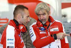 Cristian Gabarrini, jefe del equipo Ducati Team, Gigi Dall'Igna, Director General de Ducati Team