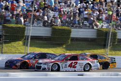 Denny Hamlin, Joe Gibbs Racing Toyota, Kyle Larson, Chip Ganassi Racing Chevrolet, Matt Kenseth, Joe Gibbs Racing Toyota