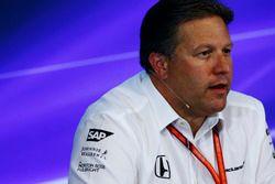 Zak Brown, directeur exécutif, McLaren Technology Group, en conférence de presse