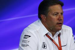 FIA-Pressekonferenz: Zak Brown, Geschäftsführer, McLaren Technology Group