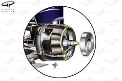Red Bull RB7 rear brakes, Japanese GP