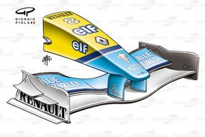 Renault R23 2003 front wing and nose