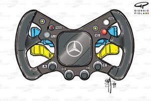 McLaren MP4-14 1999 Hakkinen steering wheel