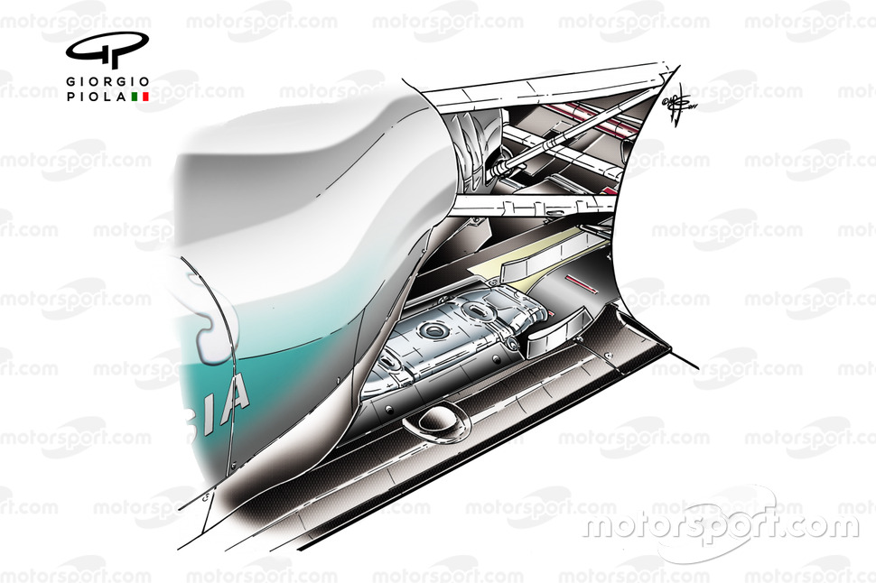 Mercedes W02 exhausts, Brazilian GP