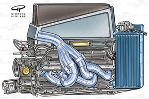 Williams FW26 2004 BMW engine and cooling system
