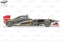 Lotus Renault R31, vista laterale, monoposto della presentazione