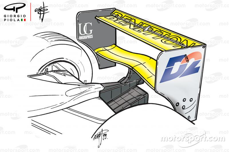 Ala trasera del Benetton B199 del GP de Italia