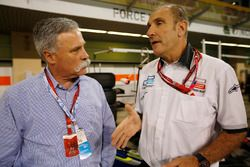 Chase Carey, Liberty Media, con Bruno Michel, GP2 Series