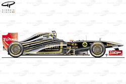 Lotus Renault R31 side view, Canadian GP