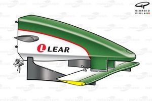 Jaguar R1 2000 nose and front wing