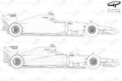 DUPLICATA : Vue de côté de la McLaren MP4-29