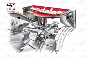 McLaren MP4-22 2007 Bahrain rear wing
