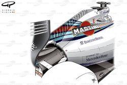 Williams FW36 airbox winglet