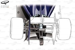 Williams FW36 (test livery) lower support wing, mounted to crash structure (rear wing whiteout to expose detail)