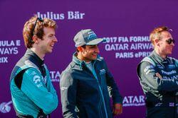 Oliver Turvey, NEXTEV TCR Formula E Team; Mitch Evans, Jaguar Racing; Adam Carroll, Jaguar Racing